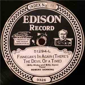 Billy Jones  / Robert Denning - The Little Wooden Whistle Wouldn't Whistle / Finnegan's In Again (There's The Devil Of A Time) album mp3
