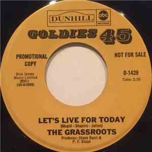 The Grassroots - Let's Live For Today / Where Were You When I Needed You album mp3